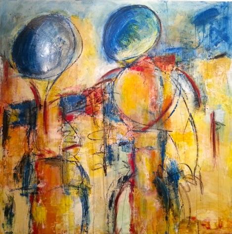 Envol - 2014 - Acrylique et pastels - 40 x 40 po