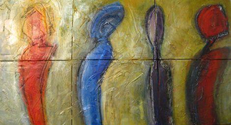 AinsiSepreparentLesIndignées... -  2012 - Acrylique et pastels - 81 x 153 cm (32 x 60 po)