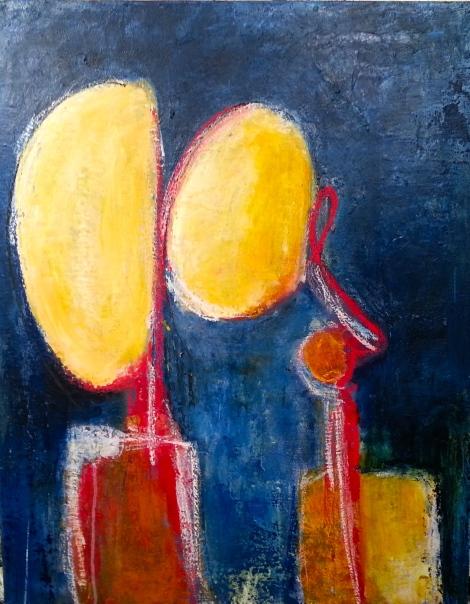 JeTeVois - 2014 - Acrylique et pastels - Acrylic and pastels- 76 x 61 cm - 30 x 24 po - Encadrée