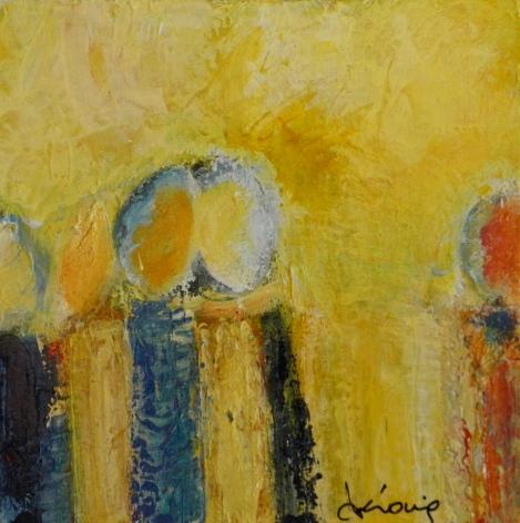 Témoignage  - 2014 - Acrylique et pastels - Acrylic and pastels - 12 x 12 po
